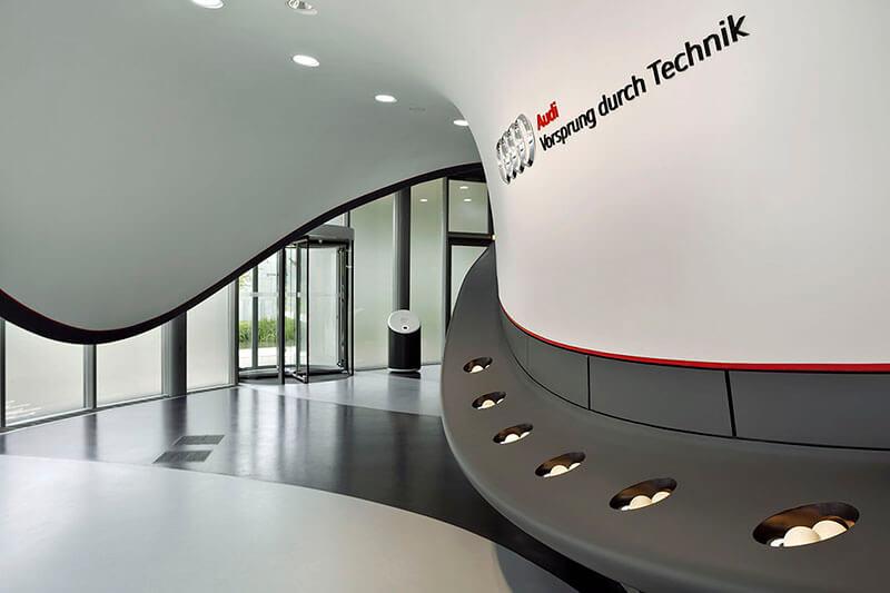 Audi Pavillon Autostadt Wolfsburg Prager Möbel
